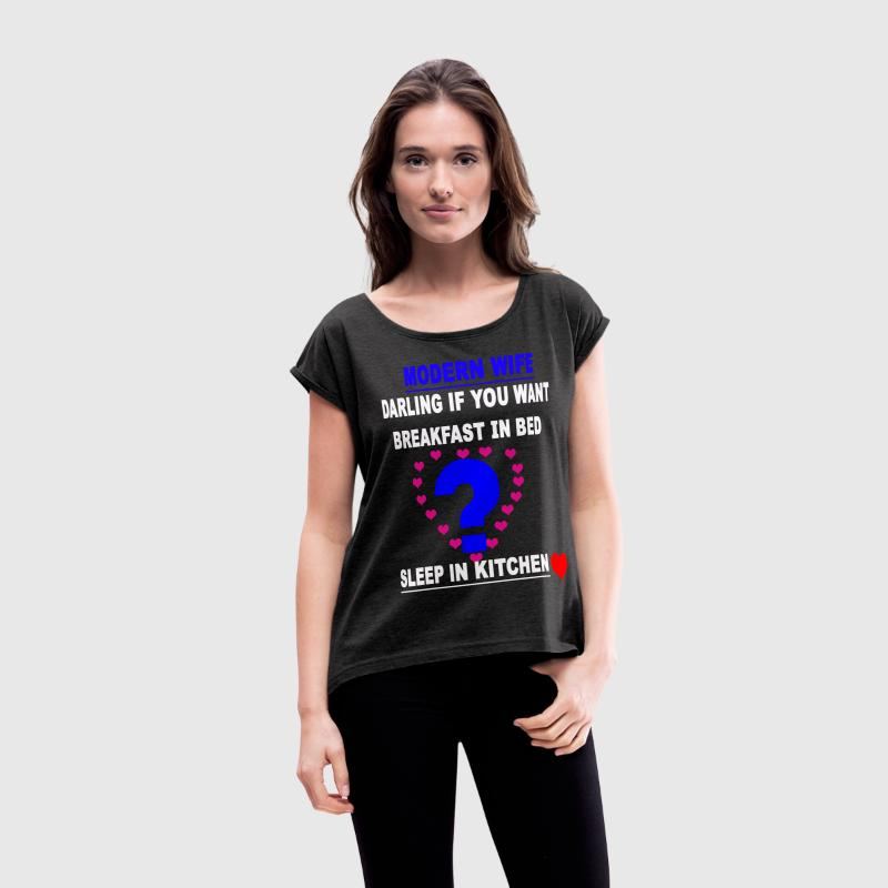 modern wifie t shirts women s rolled sleeve boxy t shirt. Black Bedroom Furniture Sets. Home Design Ideas