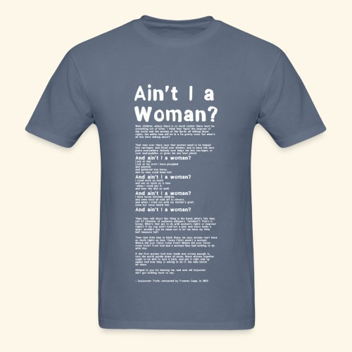 Ain't I a Woman? - large print MEN white - Men's T-Shirt