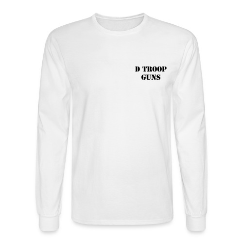 D Troop GUNS with Wings on Back BLACK Letters - Men's Long Sleeve T-Shirt