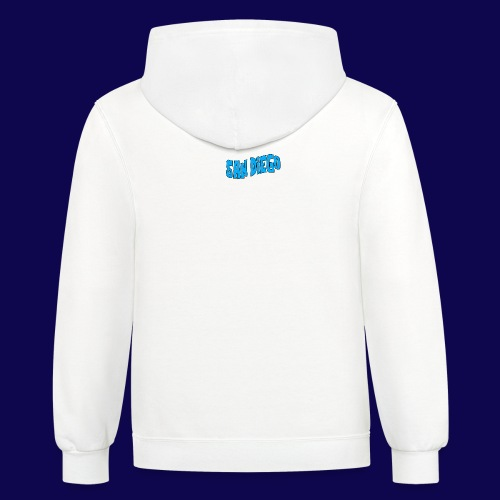 Quoted Phrase San Diego Skateboarders Hoodie V.T.V.M. (white) - Contrast Hoodie