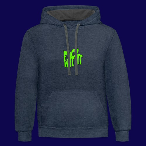 Quoted Phrase San Diego Skateboarders Hoodie V.T.V.M. (Navy Blue) - Contrast Hoodie
