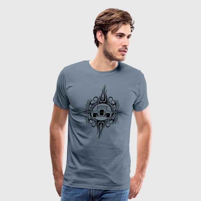 Hot Rod with Pinstripe T-Shirts - Men's Premium T-Shirt