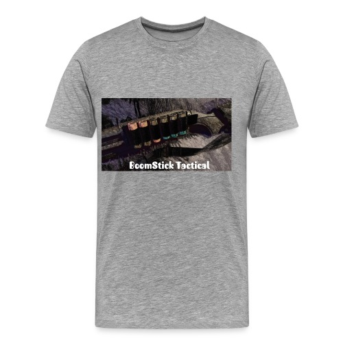 BoomStick Tactical Gray T-Shirt - Men's Premium T-Shirt