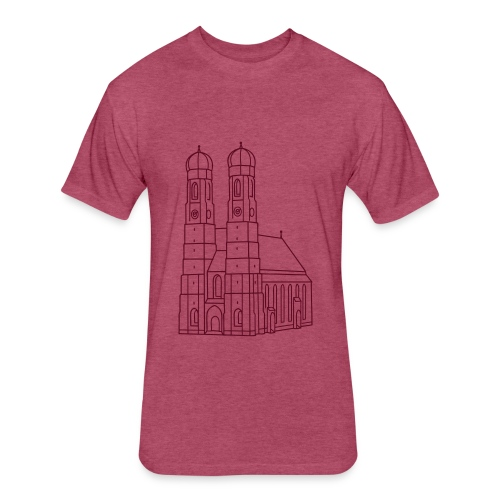 Munich Frauenkirche - Fitted Cotton/Poly T-Shirt by Next Level