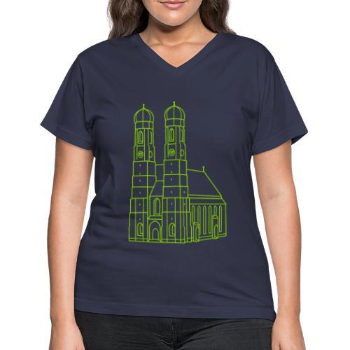 Munich Frauenkirche - Women's V-Neck T-Shirt
