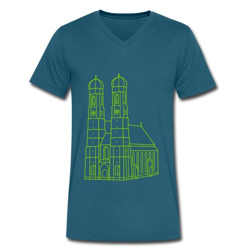 Munich Frauenkirche - Men's V-Neck T-Shirt by Canvas