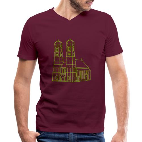 Munich Frauenkirche - Men's V-Neck T-Shirt by Canvas