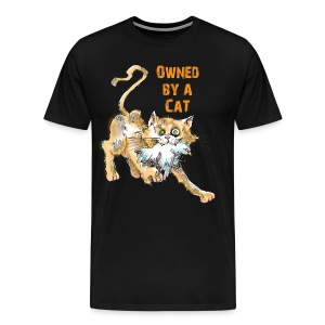 Owned by A Cat Men's T - Men's Premium T-Shirt