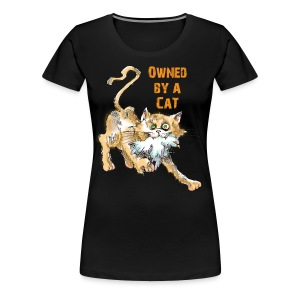 Owned by A Cat Women's T - Women's Premium T-Shirt
