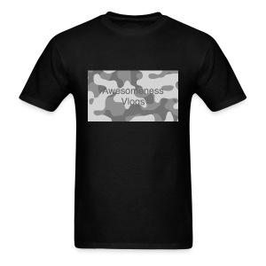 Awesomeness vlogs black and white camo t-shirt  - Men's T-Shirt
