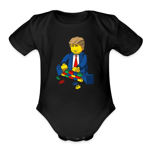 Trump Build A Wall - Organic Short Sleeve Baby Bodysuit