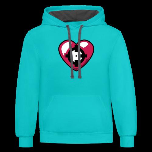 Heart Hoodie - Contrast Hoodie