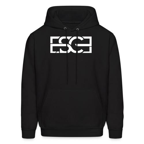 Men's Black Hoodie w/ ESCE in White Font - Men's Hoodie