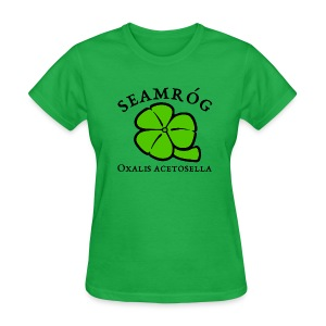 Shamrock Saint Patricks Day black text - Women's T-Shirt