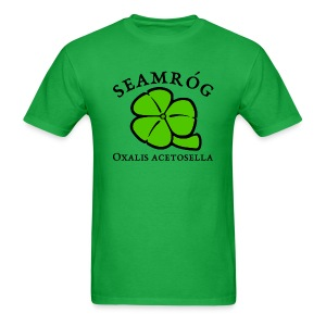 Shamrock Saint Patricks Day black text - Men's T-Shirt