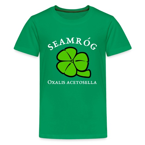 Shamrock Saint Patricks Day in green - Kids' Premium T-Shirt