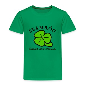Shamrock Saint Patricks Day black text - Toddler Premium T-Shirt