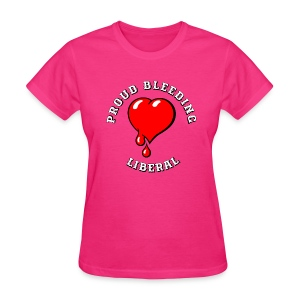 Red Bleeding Heart liberal vintage - Women's T-Shirt