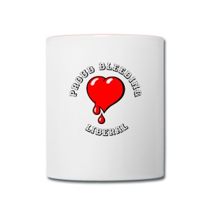 Red Bleeding Heart liberal vintage - Contrast Coffee Mug
