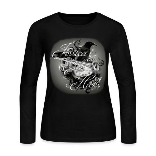 Trumpet and Raven - Women's Long Sleeve Jersey T-Shirt