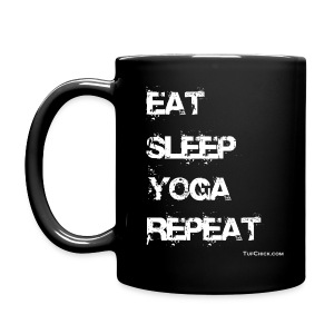 Eat Sleep Yoga Repeat Mug - Black - Full Color Mug