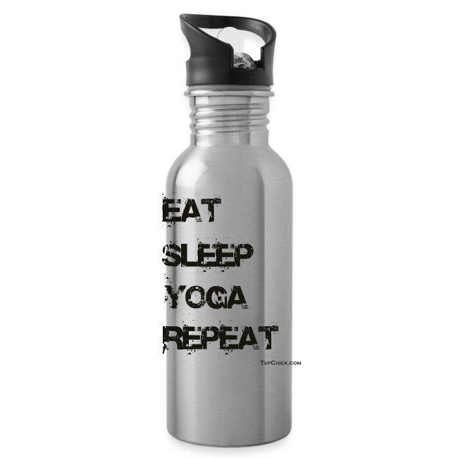 Eat Sleep Yoga Repeat Metal Bottle