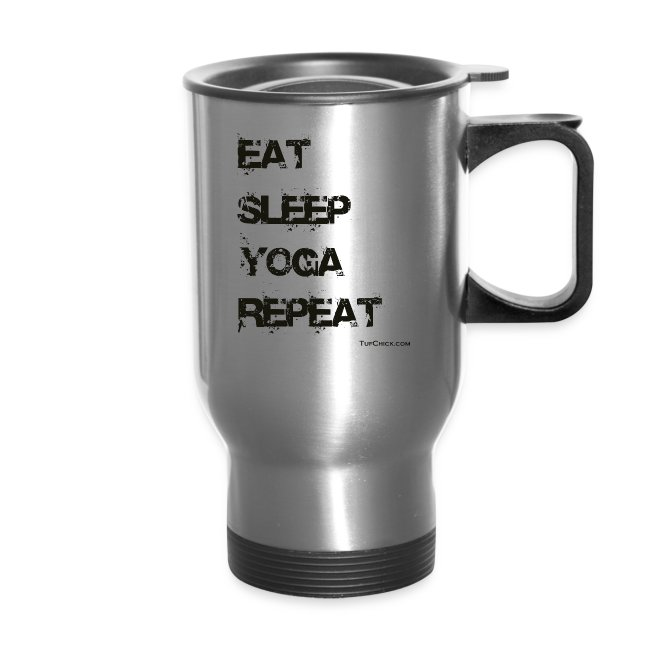 Eat Sleep Yoga Repeat Travel Mug