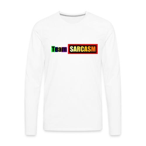 Team Sarcasm Logo (color) - Men's Premium Long Sleeve T-Shirt