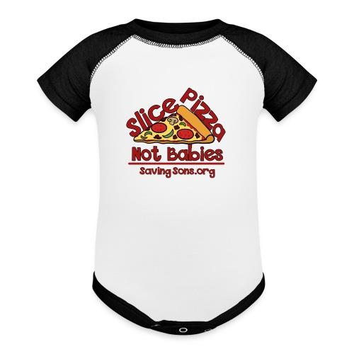 Slice Pizza Not Babies - Contrast Baby Bodysuit
