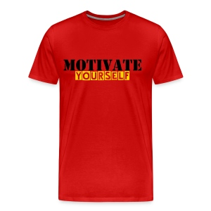 MOTIVATED YOURSELF T-SHIRT - Men's Premium T-Shirt