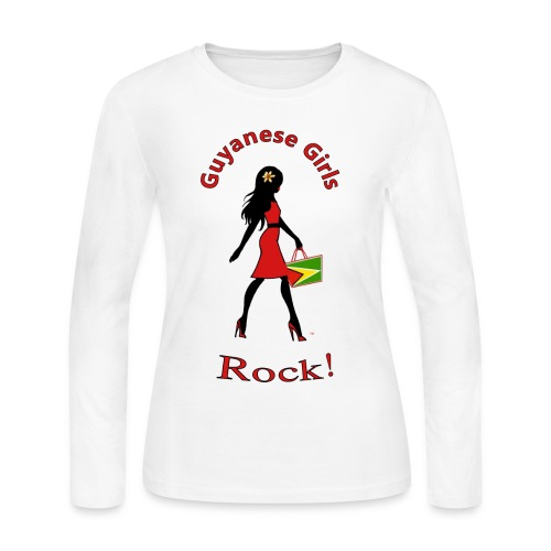 Guyana Women's Long Sleeve T-Shirt - Women's Long Sleeve Jersey T-Shirt