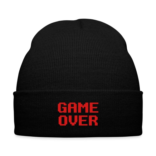 Game Over (Knit Cap) - Knit Cap with Cuff Print