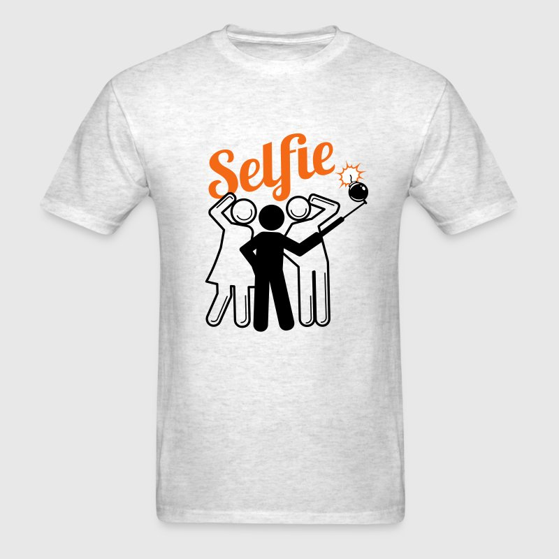 Selfie Bomb - Anti Selfie Movement - Men's T-Shirt
