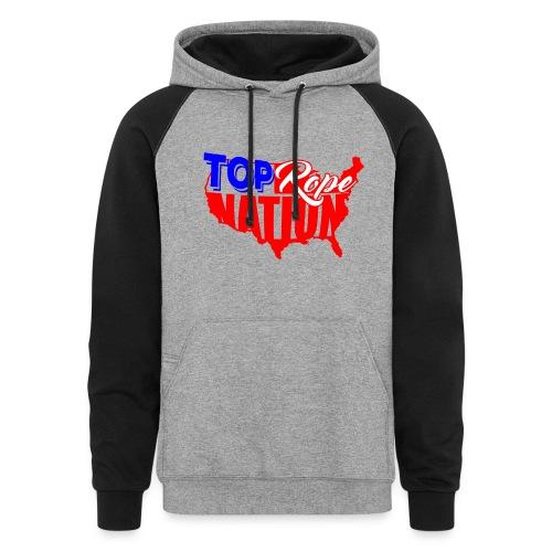 Top Rope Nation Contrast Hoodie - Colorblock Hoodie