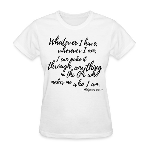 Being Content in ALL Situations - White - Women's T-Shirt