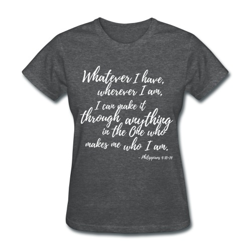 Being Content in ALL Situations - Gray - Women's T-Shirt