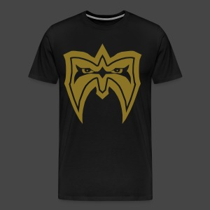 Ultimate Warrior Limited Edition Metallic Gold Signature Shirt - Men's Premium T-Shirt