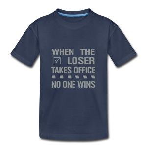 * When the Loser Takes Office * (velveteen.print)  - T-shirt premium pour enfants