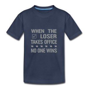 * When the Loser Takes Office * (velveteen.print)  - T-shirt premium pour enfants