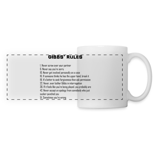 NCIS GIBBS' RULES CUP - Panoramic Mug