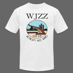 WJZZ 106 FM Detroits Jazz Radio - Men's T-Shirt by American Apparel
