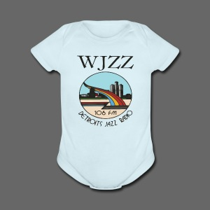 WJZZ 106 FM Detroits Jazz Radio - Short Sleeve Baby Bodysuit