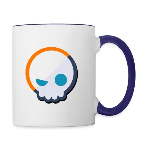 Gnoggin Contrast Mug : white/cobalt blue - Contrast Coffee Mug