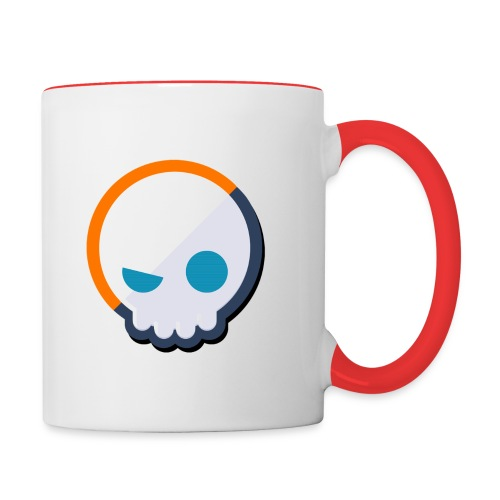 Gnoggin Contrast Mug : white/red - Contrast Coffee Mug
