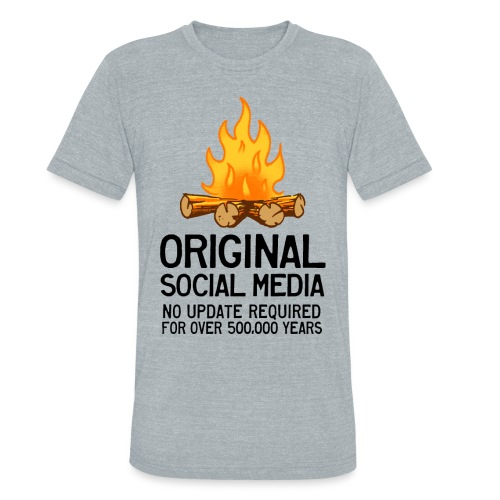 Campfire Original Social Media - Unisex Tri-Blend T-Shirt by American Apparel
