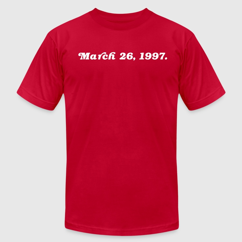 March 26 1997 - Men's T-Shirt by American Apparel