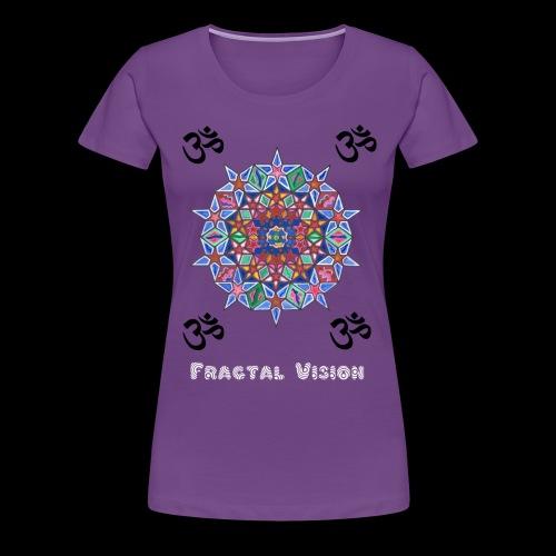 Fractal Mandala - Womens T-shirt - Women's Premium T-Shirt