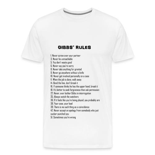Gibbs Rules - Longer List - T-shirt - Men's Premium T-Shirt