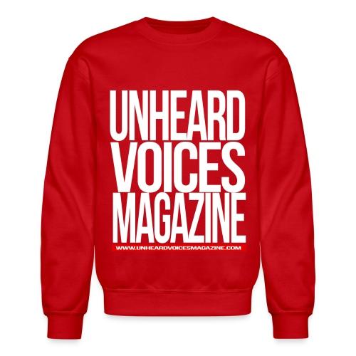 Unheard Voices Magazine Crew Neck (Red) - Crewneck Sweatshirt