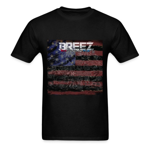 Breez red black and blue (mens+tee) - Men's T-Shirt